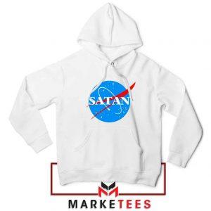 Satan Space Logo Parody White Hoodie