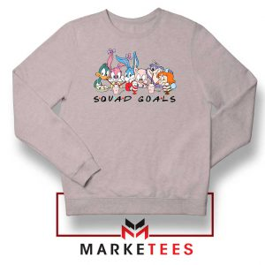Squad Goals Friend Cartoon Sport Grey Sweatshirt