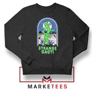 Strange Cacti Night Design Black Sweater
