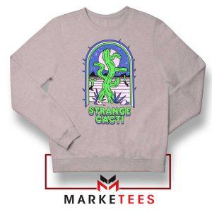 Strange Cacti Night Design Grey Sweater