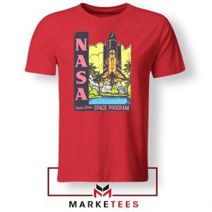 Vintage NASA Space Program Red Tee