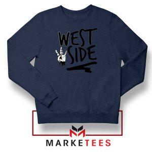 West Side Street Design Navy Sweater