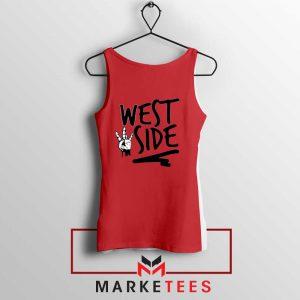 West Side Street Design Red Tank Top