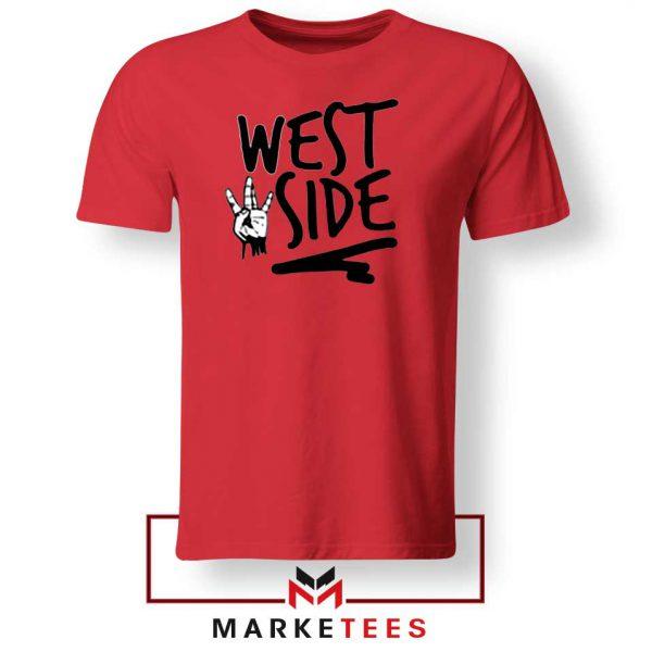 West Side Street Design Red Tee
