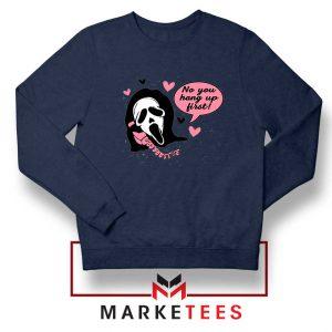Halloween Scream Ghostface Navy Sweatshirt