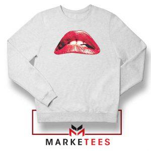 Lips Rocky Horror White Sweatshirt