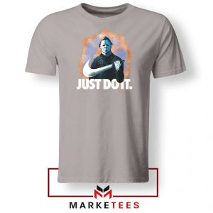 Michael Myers Just Scary Parody Sport Grey Tee