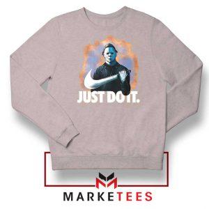 Michael Myers Scary Parody Sport Grey Sweatshirt