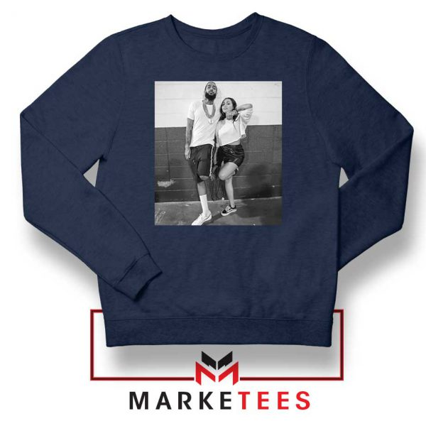 Nipsey and Lauren V Day Navy Blue Sweater