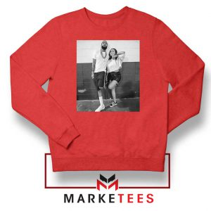 Nipsey and Lauren V Day Red Sweater