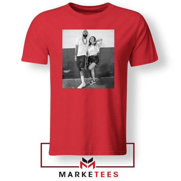 Nipsey and Lauren V Day Red Tshirt